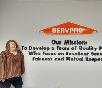 Head shot of female SERVPRO Greensboro North employee with brown-blondish hair and brown eyes.